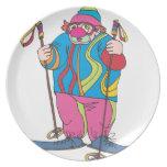 Payaso del esquí platos