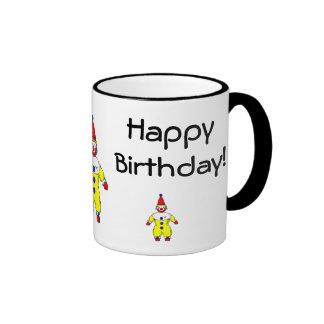 Payaso del feliz cumpleaños tazas de café