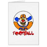 Payaso del fútbol tarjeta