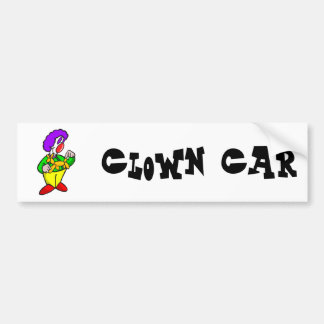 Payaso del globo pegatina para auto