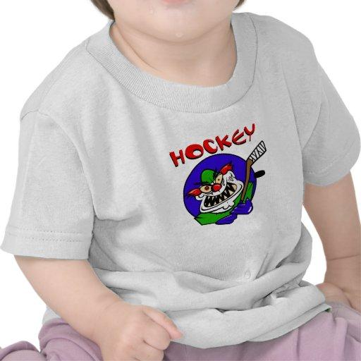Payaso del hockey camisetas