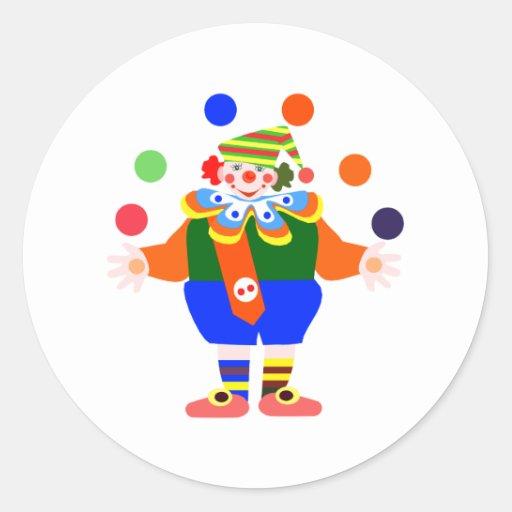 payaso del juglar pegatina