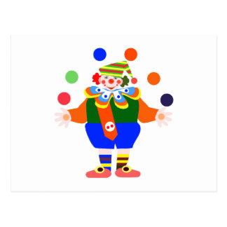 payaso del juglar postal