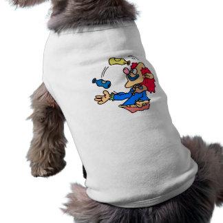 payaso del juglar camisetas de perro