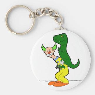 Payaso del montar a caballo del dinosaurio llaveros personalizados