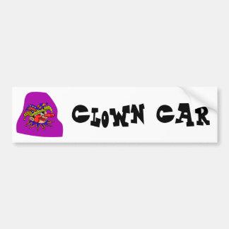 Payaso del perfil del gorra del bufón pegatina para auto