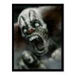 payaso del zombi postales