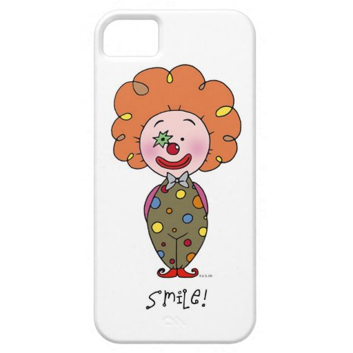 Payaso divertido del fiesta con el pelo anaranjado iPhone 5 carcasa