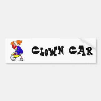 Payaso en el triciclo pegatina para auto
