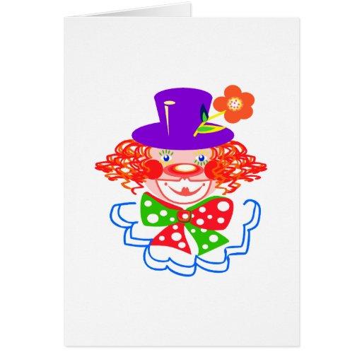 payaso en gorra tarjeta pequeña