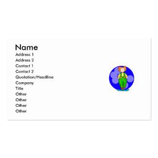 Payaso en lunares plantillas de tarjetas personales