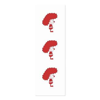 Payaso en rojo y blanco. Historieta Plantilla De Tarjeta De Visita