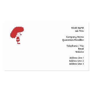 Payaso en rojo y blanco. Historieta Tarjetas De Visita