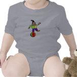 Payaso en una bola trajes de bebé