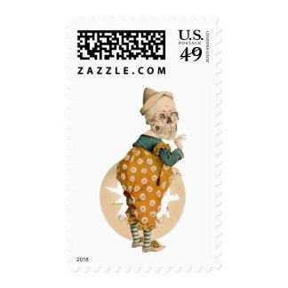 Payaso esquelético sello
