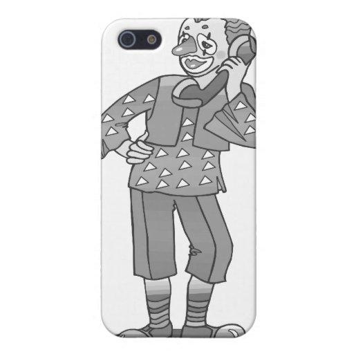 Payaso gris en el teléfono iPhone 5 cárcasas