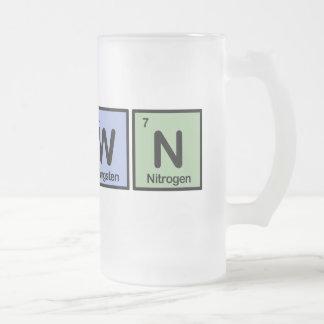 Payaso hecho de elementos taza cristal mate
