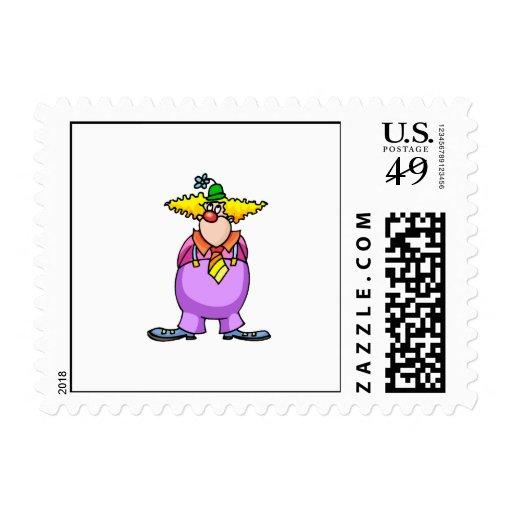 Payaso inocente timbres postales