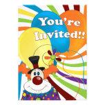 payaso invitaciones personales