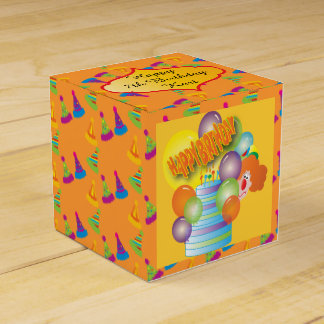 Payaso lindo de la fiesta de cumpleaños del dibujo caja para regalos