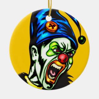 Payaso malvado del infierno adorno de navidad