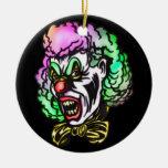 Payaso malvado feo ornamento para arbol de navidad