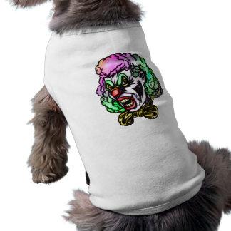 Payaso malvado feo ropa para mascota