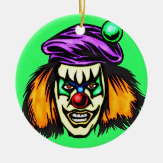 Payaso malvado malévolo ornamentos de reyes magos