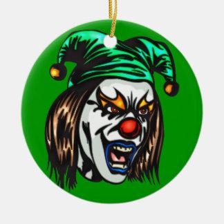 Payaso malvado peligroso ornaments para arbol de navidad