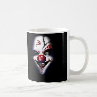 Payaso malvado taza básica blanca