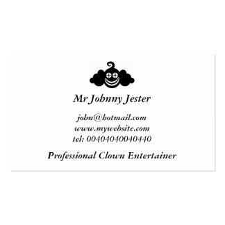 Payaso negro Sr Johnny Jester Tarjetas Personales