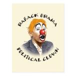 Payaso político tarjeta postal