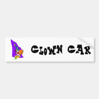 Payaso puntiagudo del gorra pegatina para auto