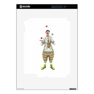 Payaso que hace juegos malabares calcomanía para iPad 2