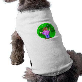 Payaso que hace juegos malabares camisas de perritos