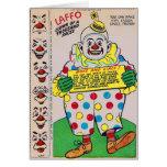 Payaso retro del kitsch del vintage de 1.000 caras tarjeta