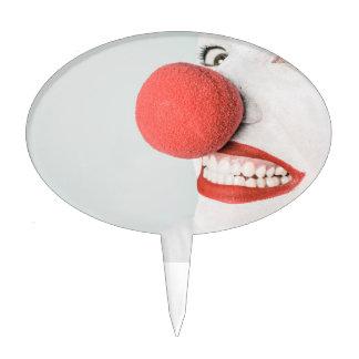 Payaso rojo de la nariz figura de tarta