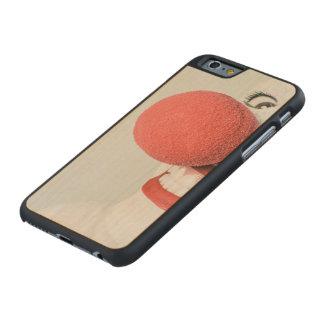 Payaso rojo de la nariz funda de iPhone 6 carved® de arce