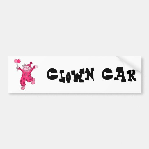Payaso rosado lindo pegatina para auto