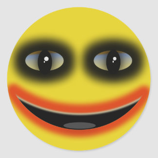 Payaso sonriente etiquetas redondas