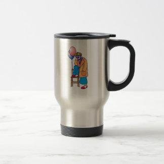 Payaso triste del hobo taza de café