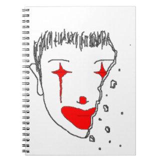 Payaso triste spiral notebook
