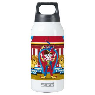 Payaso y leones de circo de Bigtop que hacen Botella Isotérmica De Agua