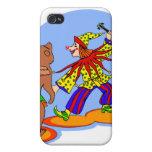 Payaso y oso del baile iPhone 4 coberturas