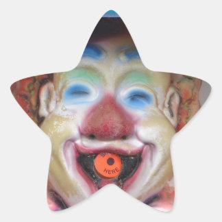 Payasos de Carney Pegatina En Forma De Estrella