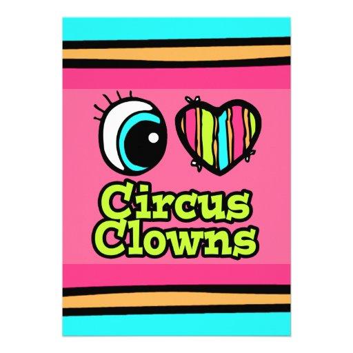 Payasos de circo brillantes del amor del corazón I