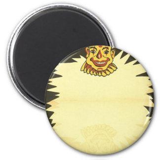 Payasos de circo de la marioneta de la gala imán redondo 5 cm