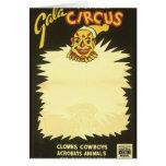 Payasos de circo de la marioneta de la gala felicitacion
