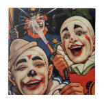 Payasos de circo del vintage, chistoso divertido azulejos cerámicos