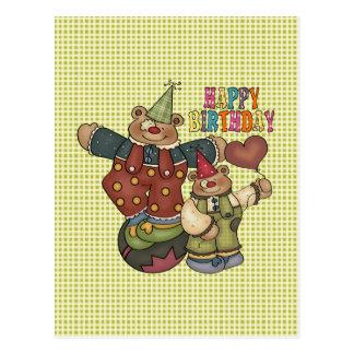 Payasos del cumpleaños tarjetas postales